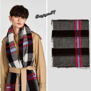 NWT, ZARA, Checked Blanket Scarf